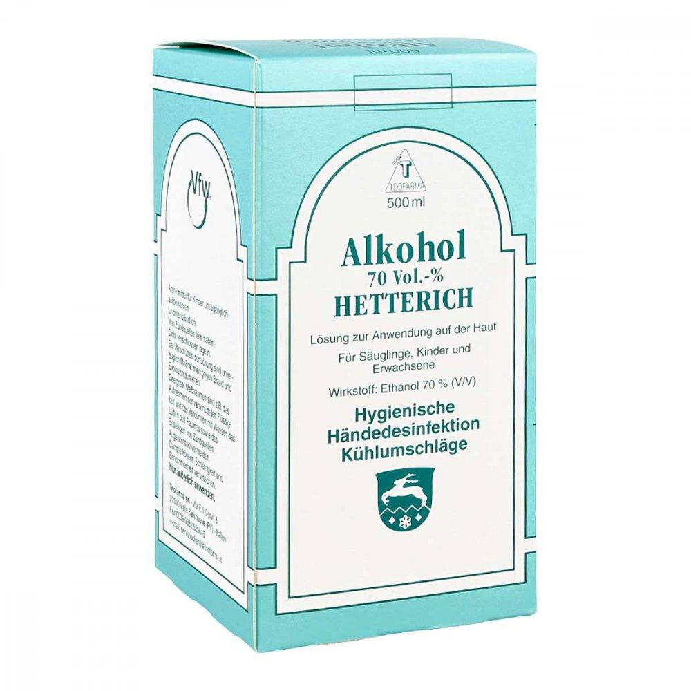 Teofarma s.r.l. Alkohol 70% V/v Hetterich 500 ml 04769683