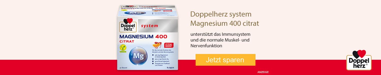 Jetzt Doppelherz system Magnesium 400 Citrat günstig online kaufen!