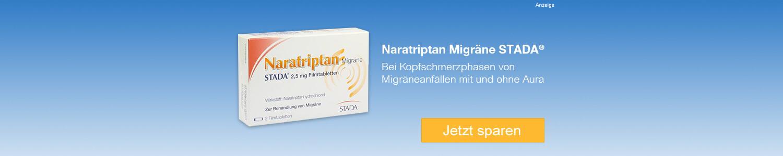 Jetzt Naratriptan Migräne STADA 2,5 mg Filmtabletten günstig online kaufen!