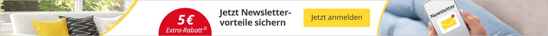 Newsletterstreifen 5 Euro sparen