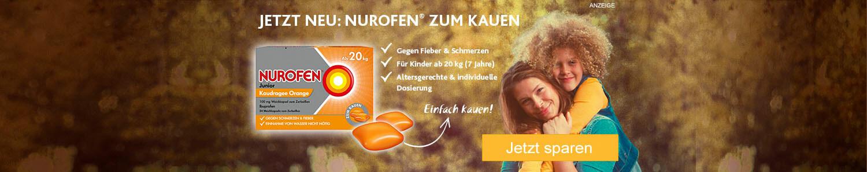 Jetzt Nurofen Junior Kaudragee Orange günstig online kaufen!