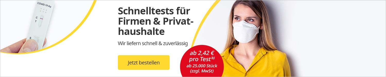 Corona-Test für Firmen und Privatkunden mit attraktiven Preis-Vorteilen