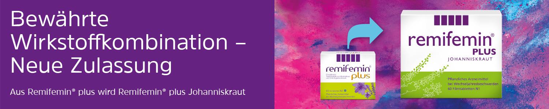 Bewährte Wirkstoffkombination - Neue Zulassung - Aus Remifemin plus wird Remifemin plus Johanneskraut