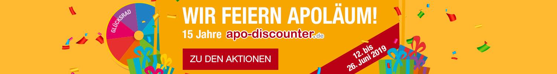 Wir feiern Apoläum - 15 Jahre apo-discounter.de!