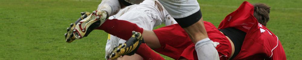 Typische Fussball-Verletzungen