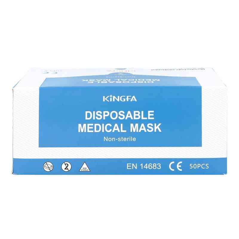 Mundschutz Op blau mit Gummiband  und Nasenbügel  bei bioapotheke.de bestellen