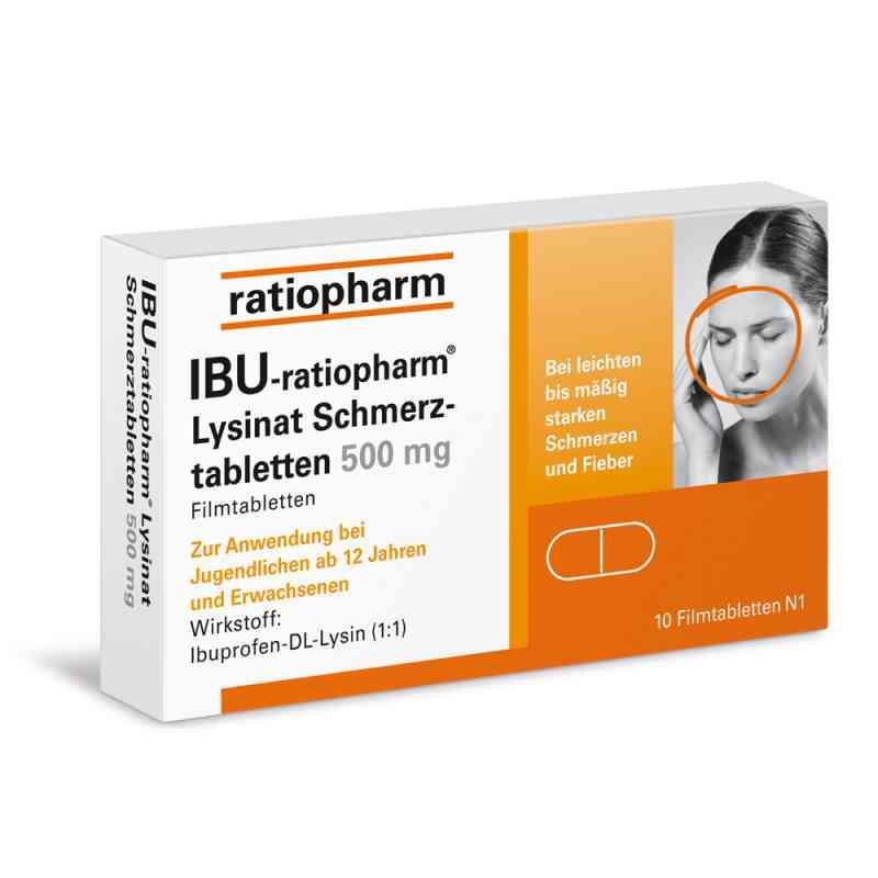IBU-ratiopharm Lysinat Schmerztabletten 500mg  bei apo-discounter.de bestellen