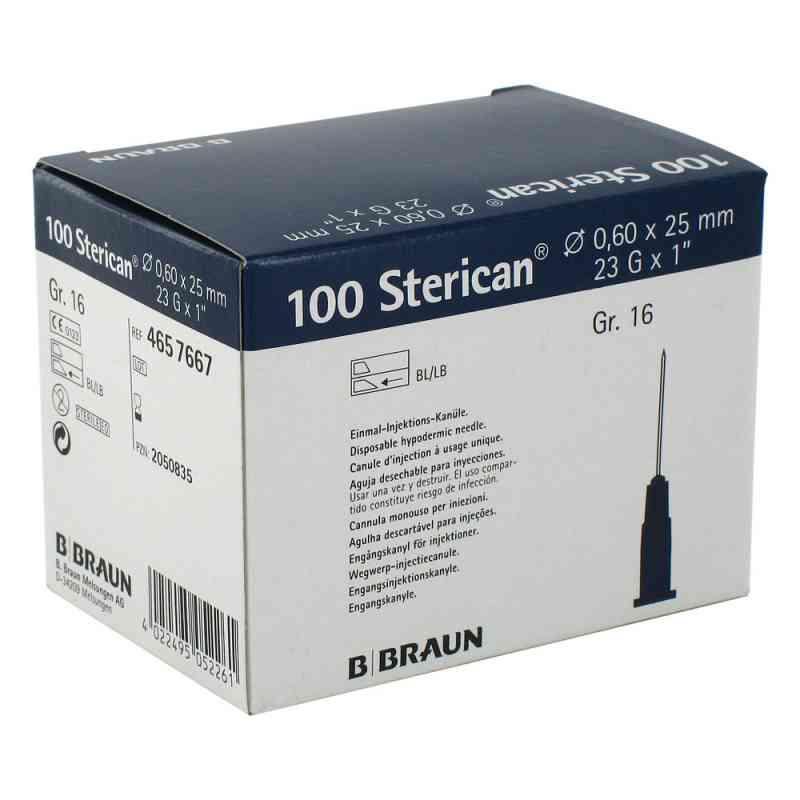 Sterican Kanüle luer-lok 0,60x25mm Größe 1 6 blau  bei apo-discounter.de bestellen