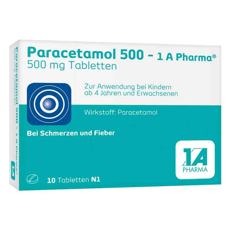 Paracetamol 500-1A Pharma  bei apo-discounter.de bestellen