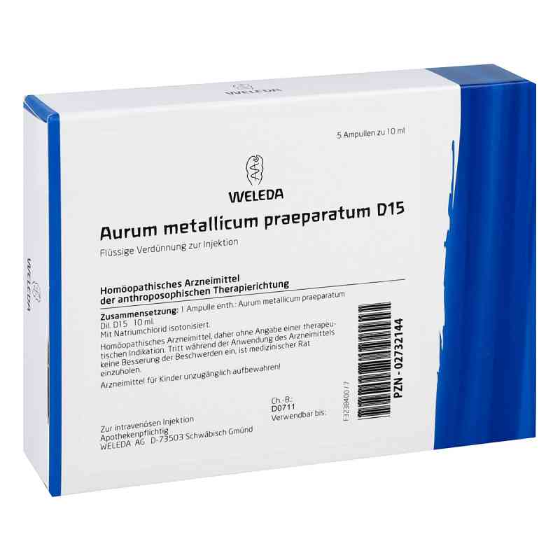 Aurum Metallicum Praep. D15 Ampullen  bei apo-discounter.de bestellen
