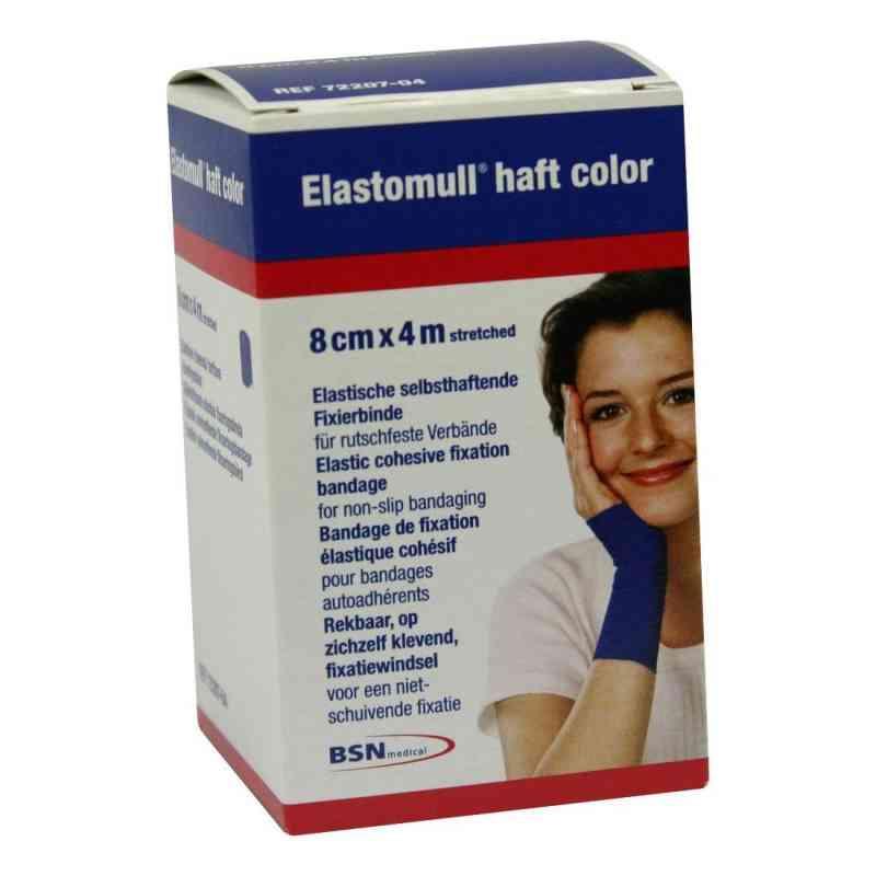 Elastomull haft 4mx8cm 72207-04 blau Fixierbinde   bei apo-discounter.de bestellen