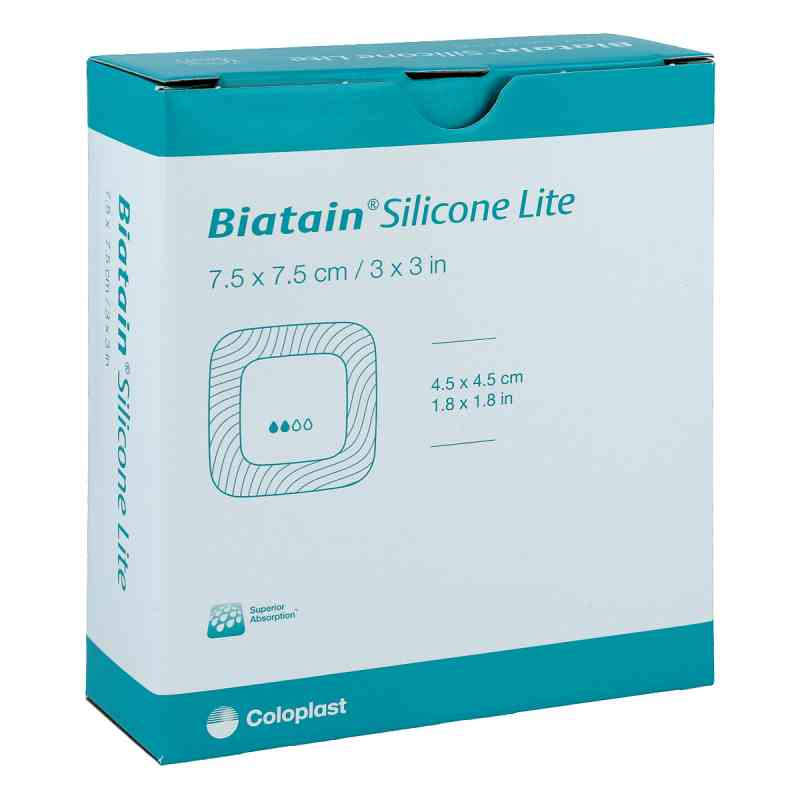 Biatain Silicone Lite Schaumverband 7,5x7,5 cm  bei apo-discounter.de bestellen