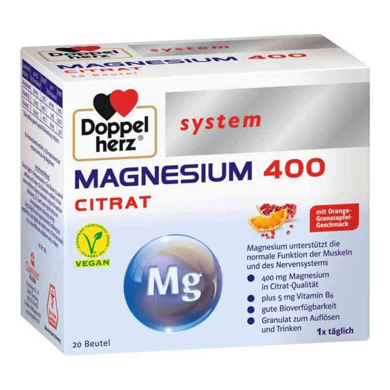 Doppelherz Magnesium 400 Citrat system Granulat  bei apo-discounter.de bestellen