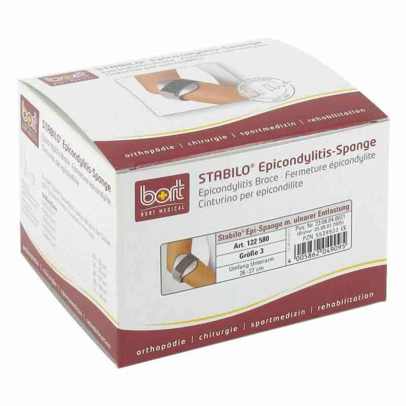 Bort Stabilo Epicondylitis Spange Größe 3  grau  bei apo-discounter.de bestellen