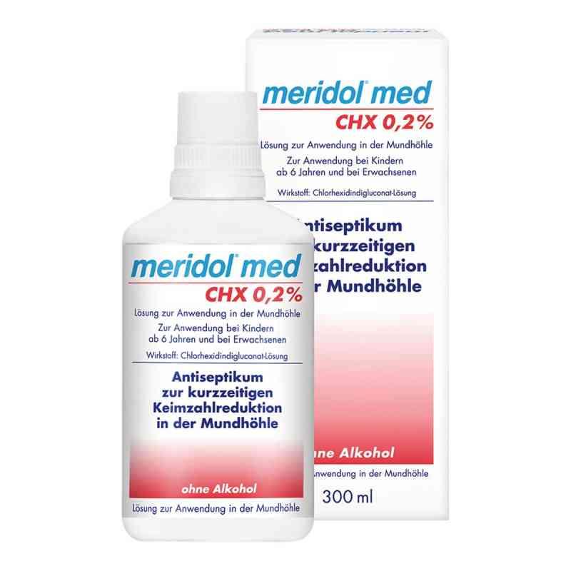 Meridol med CHX 0,2% Lösung zur Anwendung in der Mundhöhle  bei apo-discounter.de bestellen