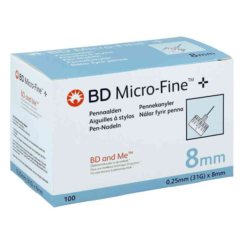 Bd Micro-fine+ 8 mm Nadeln 0,25x8 mm  bei apo-discounter.de bestellen