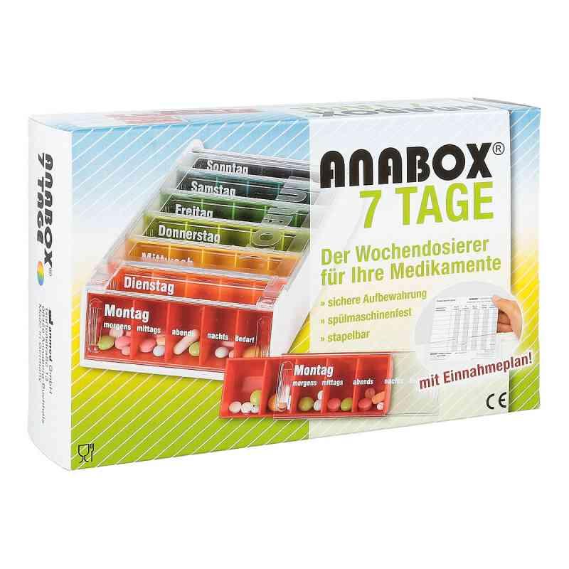 Anabox 7 Tage Regenbogen mit Einnahmeplan  bei apo-discounter.de bestellen