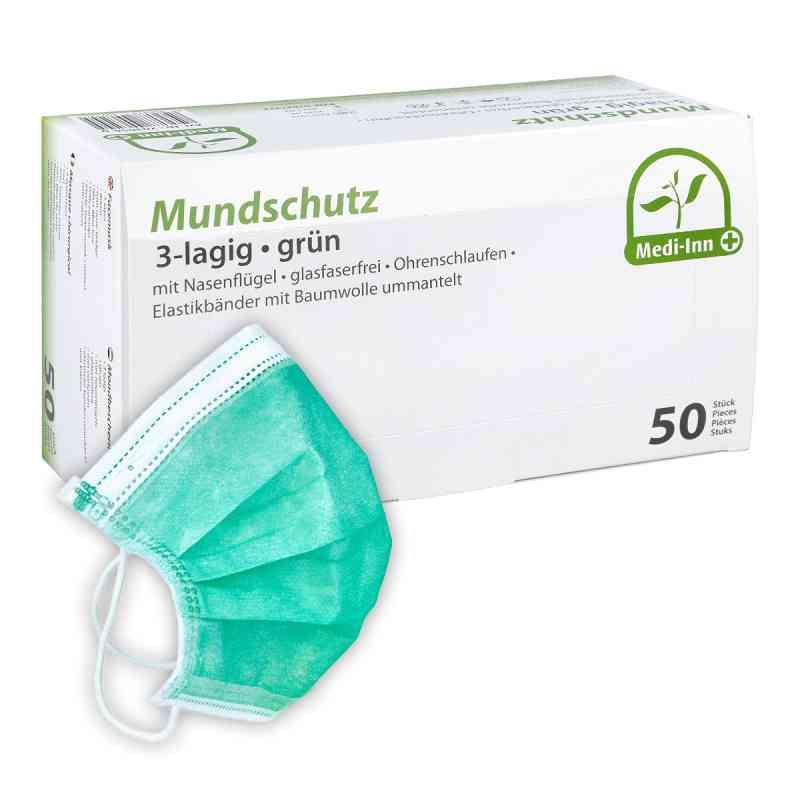 Medi Inn Mundschutz Maske mit Bändern grün  bei apo-discounter.de bestellen