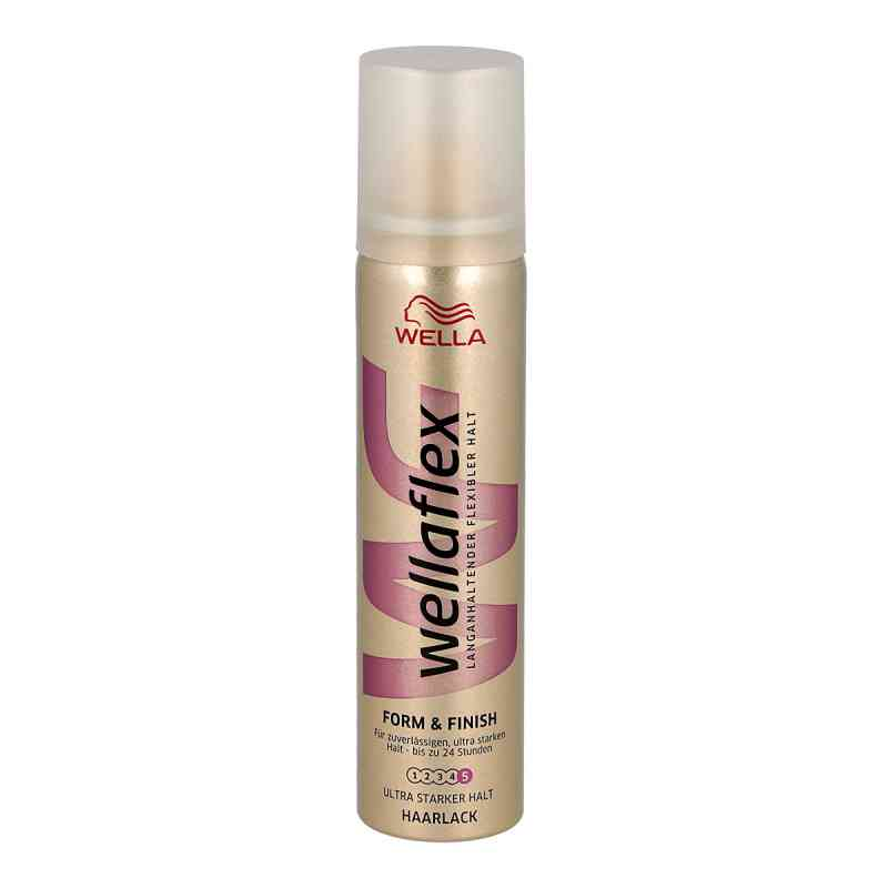 wella wellaflex haarlack form finish ultra starker halt 75 ml. Black Bedroom Furniture Sets. Home Design Ideas