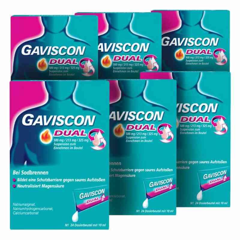 GAVISCON Dual 500 mg, 213 mg, 325 mg Suspension Dosierbeutel  bei apo-discounter.de bestellen