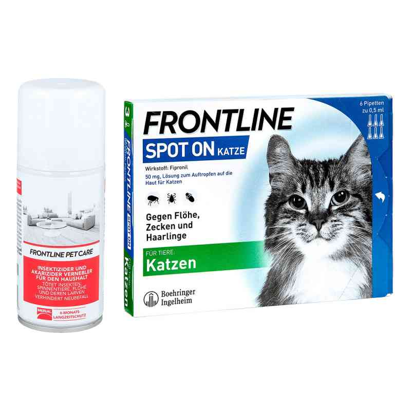 anti floh set f r katzen frontline spot on k veterin r l sung 1 stk. Black Bedroom Furniture Sets. Home Design Ideas