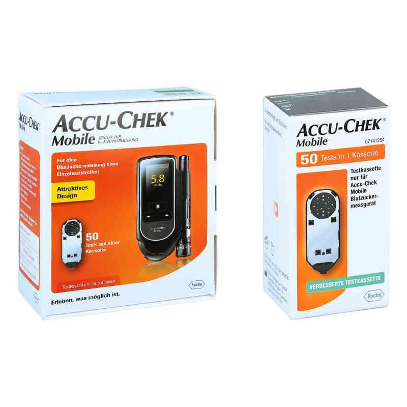 Accu Chek Mobile Set mmol/l Iii + Accu Chek Mobile Testkassette  bei apo-discounter.de bestellen