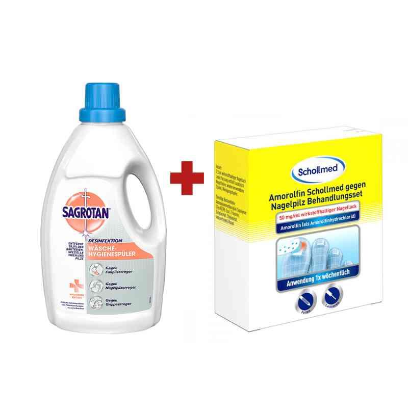 Amorolfin Scholl gegen Nagelpilz Behandlungsset + Sagrotan Wäsch  bei apo-discounter.de bestellen