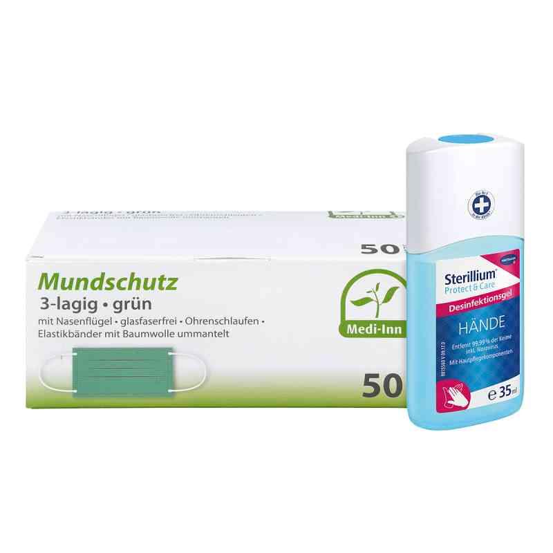 Mundschutz Maske und Sterillium Protect Care Händegel  bei apo-discounter.de bestellen
