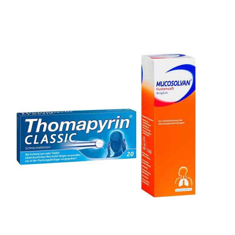 Aktionspaket - Mucosolvan Hustensaft und Thomapyrin CLASSIC  bei apo-discounter.de bestellen
