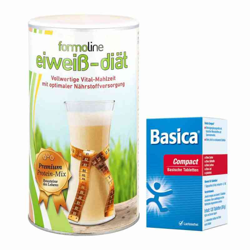 Paket Formoline Eiweiss-Diät Pulver (480 g) + Basica compact Tab  bei apo-discounter.de bestellen