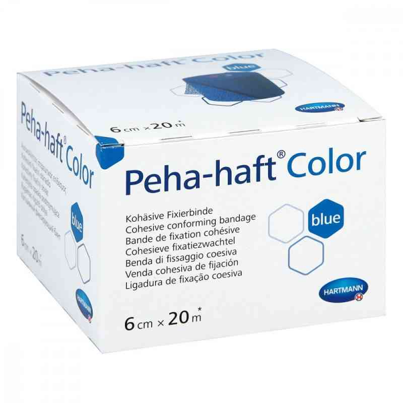 Peha Haft Color Fixierbinde latexf.6 cmx20 m blau  bei apo-discounter.de bestellen