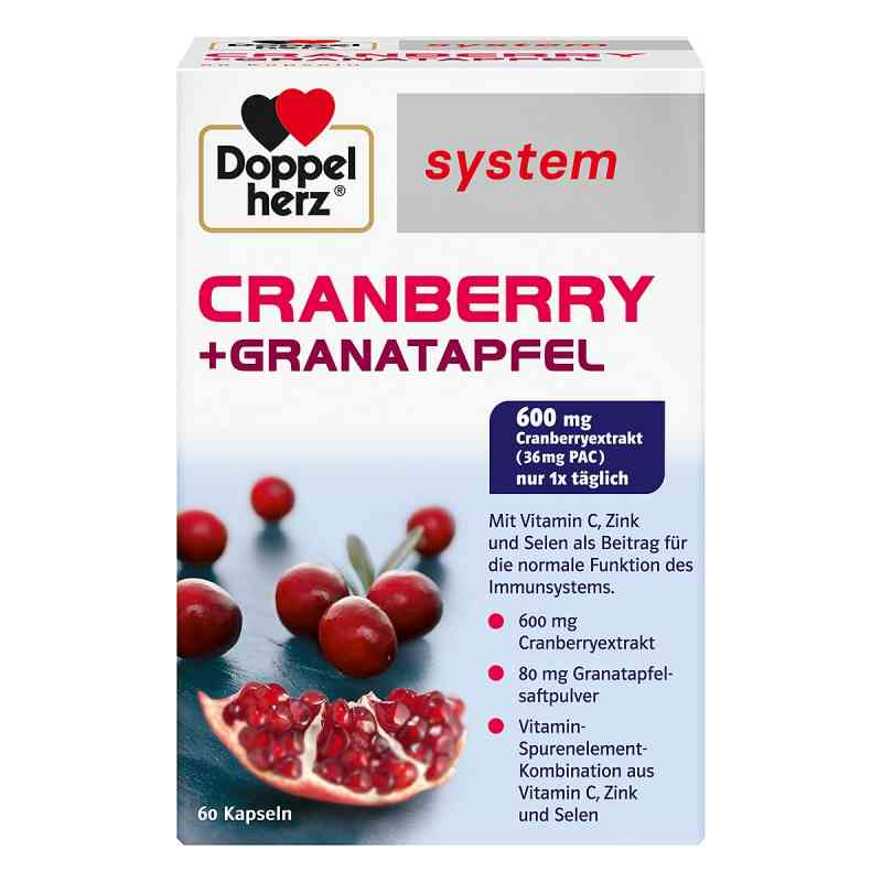 Doppelherz Cranberry + Granatapfel system Kapseln  bei apo-discounter.de bestellen