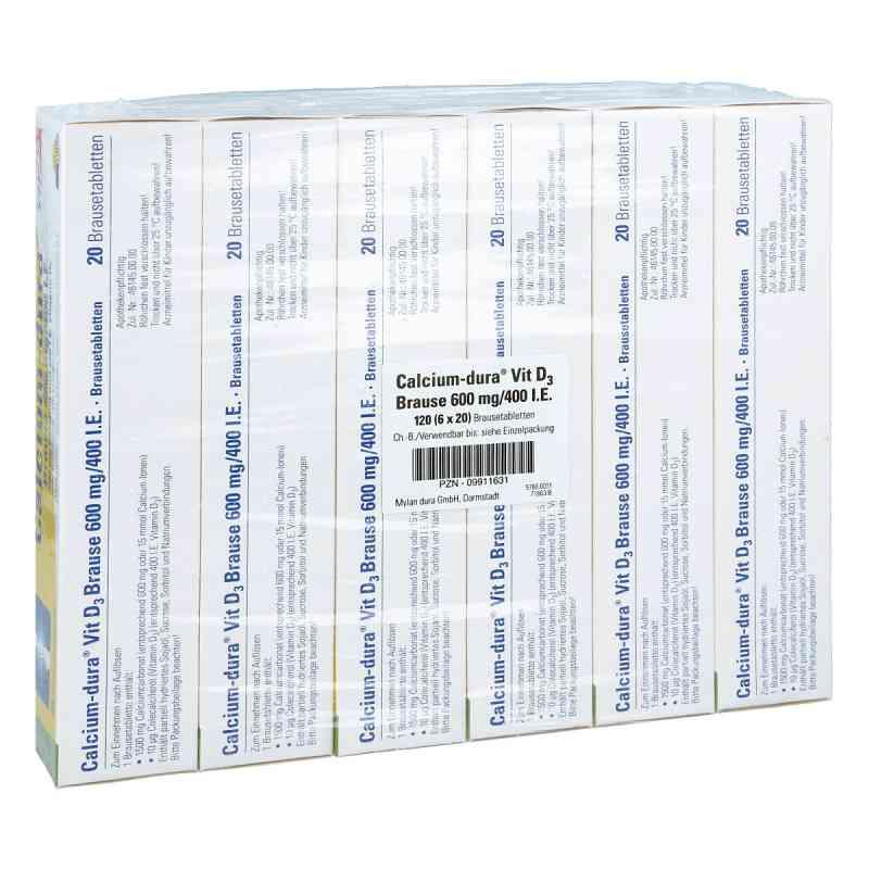 Calcium-dura Vit D3 Brause 600mg/400 internationale Einheiten  bei apo-discounter.de bestellen