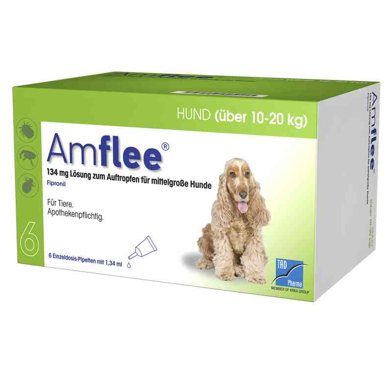 Amflee 134 mg Spot-on Lösung für mittelgr.hunde 10-20kg  bei apo-discounter.de bestellen