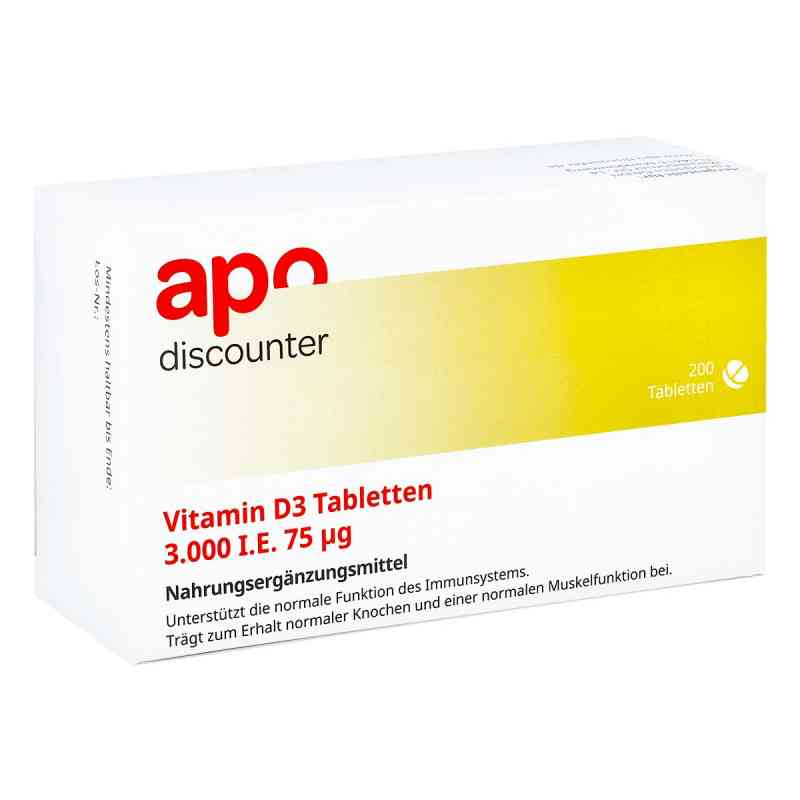Vitamin D3 Tabletten 3000 I.e. 75 [my]g von apo-discounter  bei apo-discounter.de bestellen