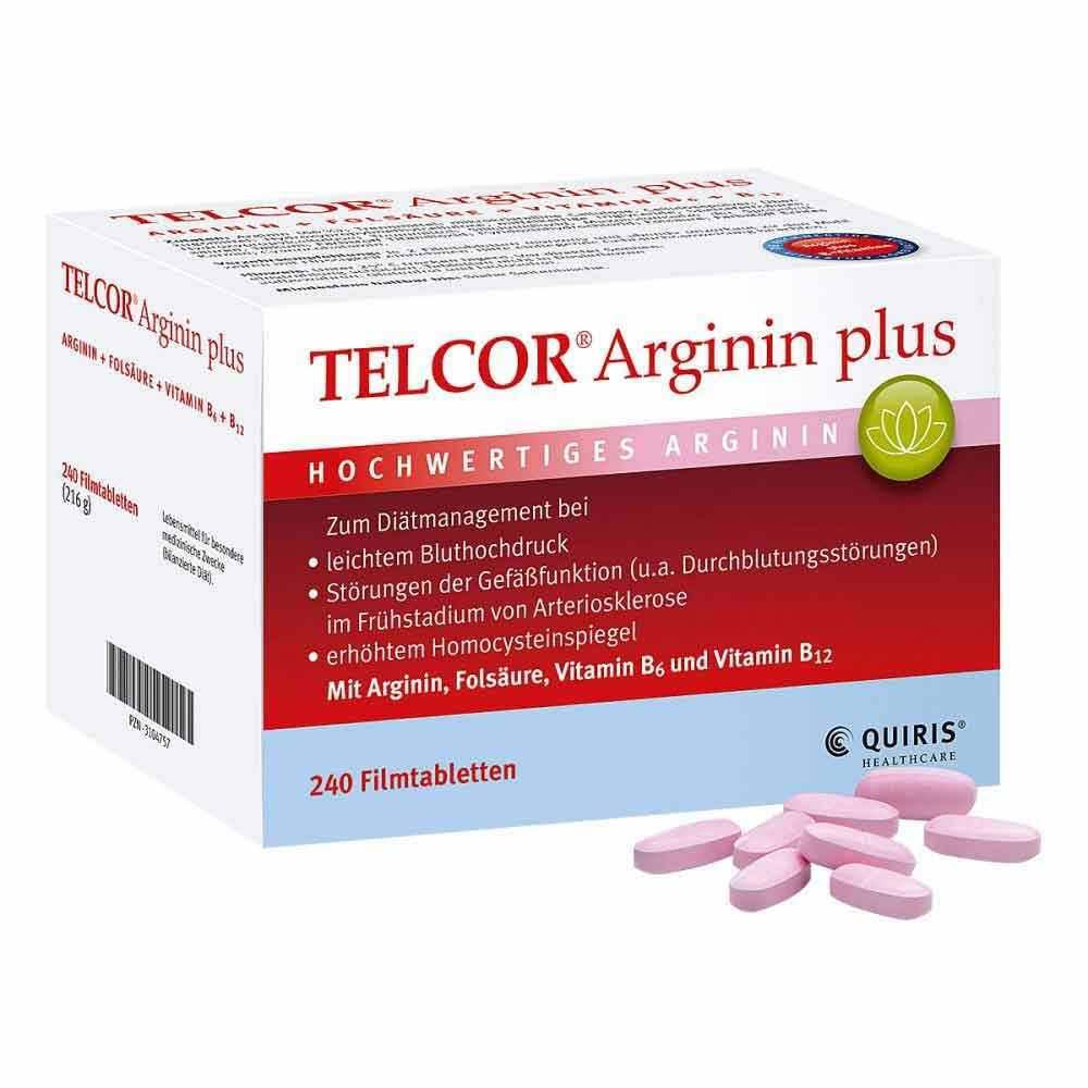 telcor arginin plus filmtabletten 240 stk online g nstig. Black Bedroom Furniture Sets. Home Design Ideas