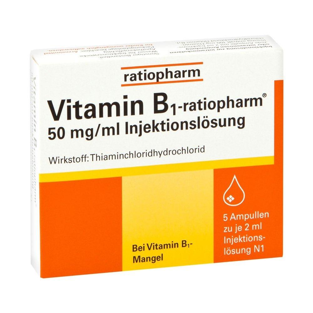 vitamin b1 ratiopharm 50mg ml iniecto lsg ampullen 5x2 ml. Black Bedroom Furniture Sets. Home Design Ideas