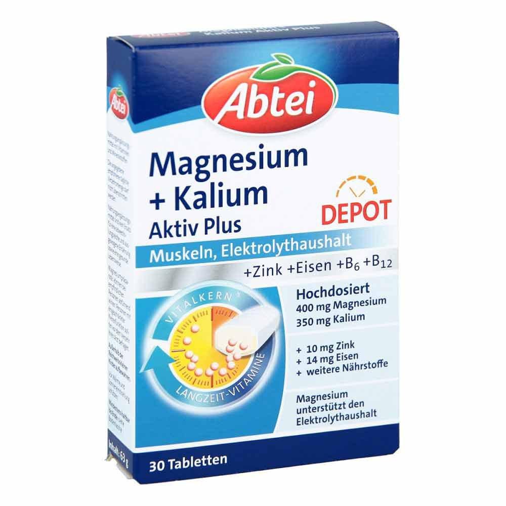 abtei magnesium kalium depot tabletten 30 stk online. Black Bedroom Furniture Sets. Home Design Ideas