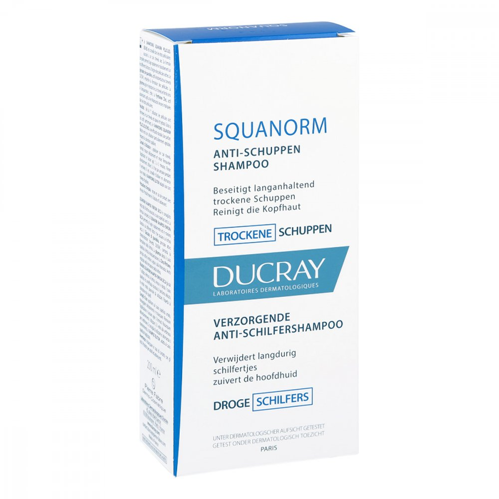 ducray squanorm trockene schuppen shampoo 200 ml. Black Bedroom Furniture Sets. Home Design Ideas