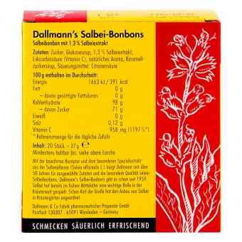Dallmann's Salbeibonbons mit Vitamin C .