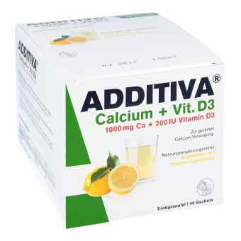 Additiva Calcium 1000 mg + Vitamine d 3 Pulver