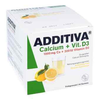 Additiva Calcium 1000 mg + Vitamine d 3 Pulver