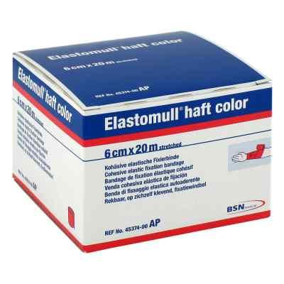 Elastomull haft color 20mx6cm rot Fixierbinde   bei apo-discounter.de bestellen