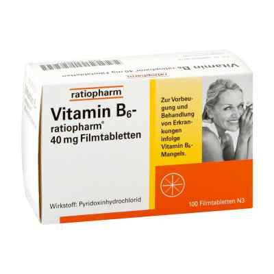 Vitamin B6 ratiopharm 40 mg Filmtabletten  bei apo-discounter.de bestellen