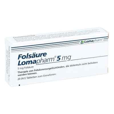Folsäure Lomapharm 5 mg Tabletten