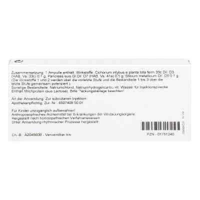 Cichorium Pancreas Comp. Ampullen  bei apo-discounter.de bestellen