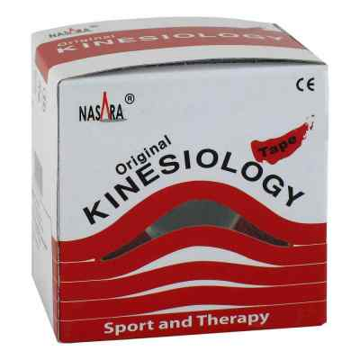 Nasara Kinesio Tape 5 cmx5 m rot inkl.Spenderbox  bei apo-discounter.de bestellen