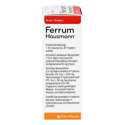 Ferrum Hausmann 50mg Eisen/ml Lösung  bei apo-discounter.de bestellen