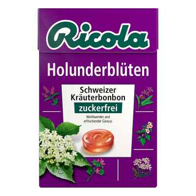 Ricola ohne Zucker Box Holunderblüten Bonbons