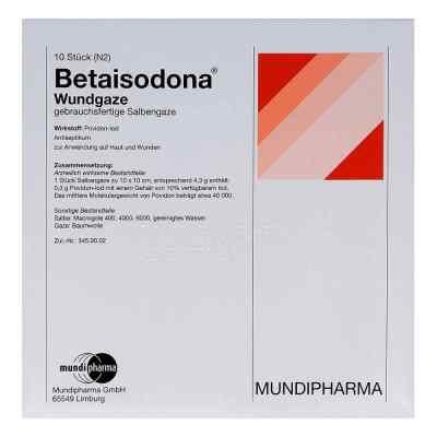 Betaisodona Wundgaze 10x10 cm  bei apo-discounter.de bestellen